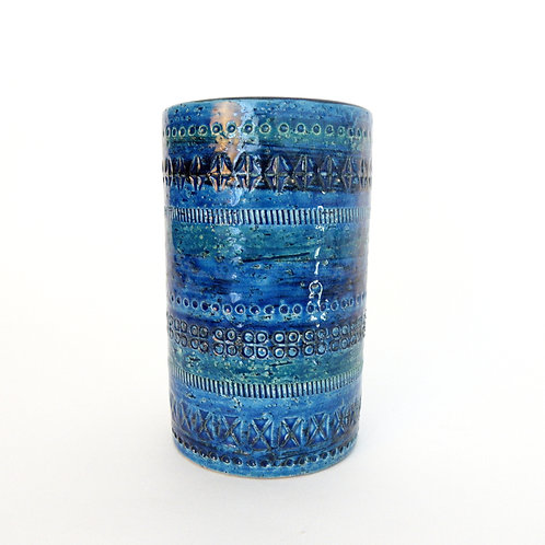 """Rimini"" Cylindrical Vase medium height by Aldo Londi for Bitossi"