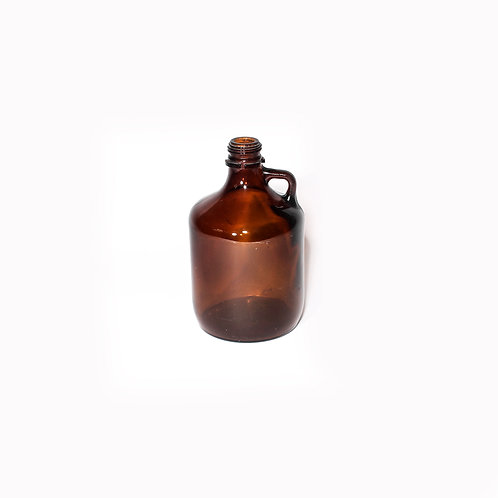 Brown glass carafe Sweden early 1900s