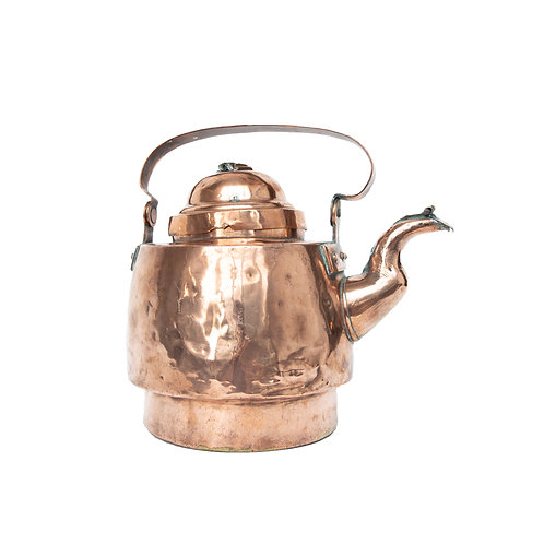 "Antique Copper kettle from Sweden early 1900s ""Kisa"""