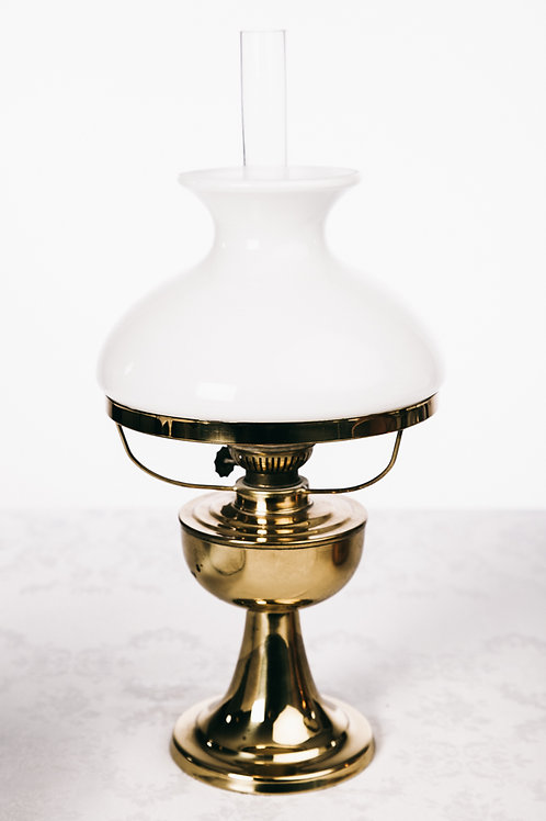 Antique Brass kerosene lamp from Sweden early 1900s