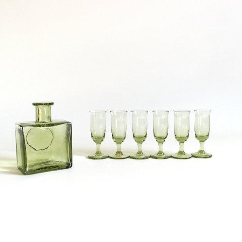 Retro snaps glasses from SKRUF Sweden set of six