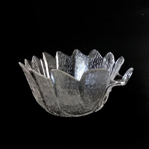 """Orrefors modell """"Eden"""" Medium Glass Bowl designed by Lars Hellsten Sweden 1970s"""