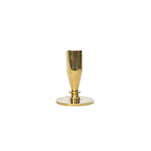 A solid brass candle holder from Sweden early 1900s