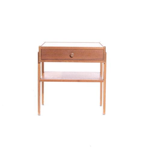 Swedish Bed Side table in teak 1950s