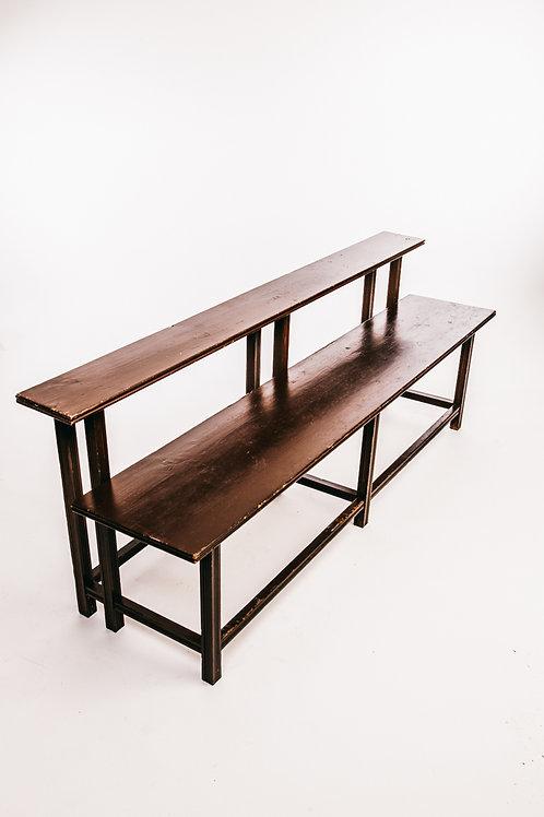 Antique school bench