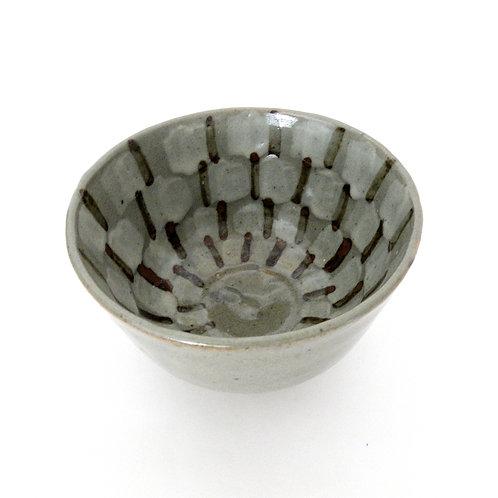"""Vintage Handmade glazed ceramic bowl from Sweden mid-century. """"Kolan"""" Konstverk"""