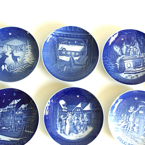 Jule-Afton by B&G Denmark plate collector pieces with different motive each year