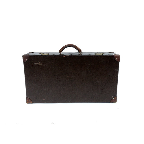 Vintage leather suitcase from Sweden 1950s
