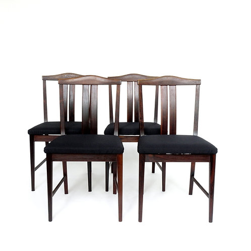 Retro Rosewood chairs designed by Bertil Fridhagen from Sweden