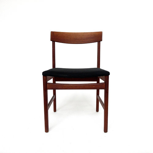 1950s Retro Teak chair with upholstered seat from Sweden