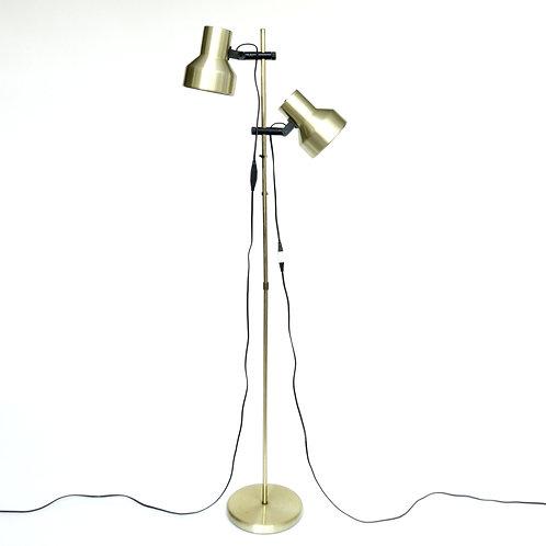 Lovely Retro double headed brass floor lamp from Sweden 1970s