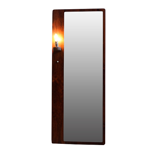 Stunning Jacaranda mirror with light from Sweden 1960s