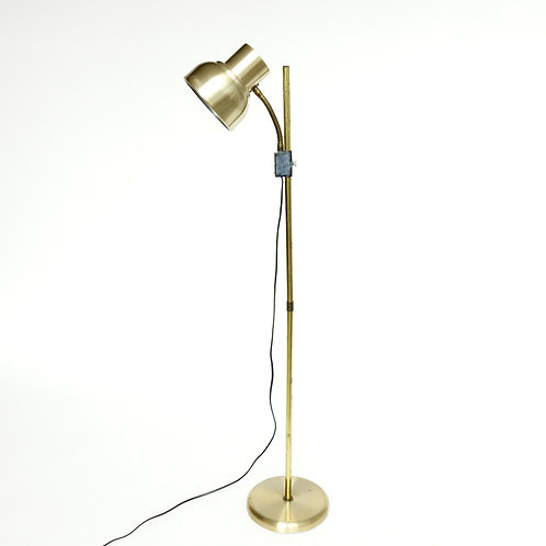 Lovely brass vintage floor lamp with brass details from Sweden