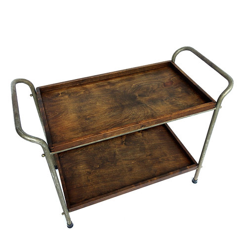 Stunning Authentic Industrial tray table in birch and metal legs