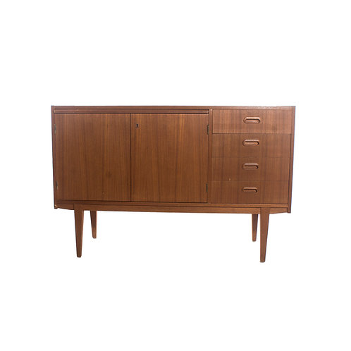 Swedish Teak Sideboard with pull out table 1950s