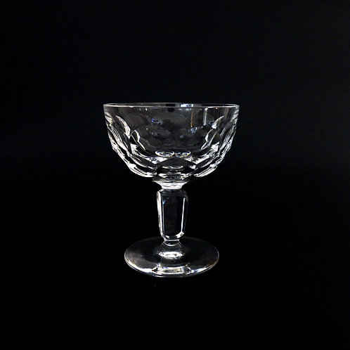 Vintage Crystal Champagne Glasses set of five from Sweden early 1900s