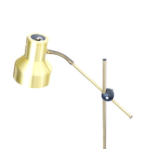 Retro Brass floor lamp from Sweden 1960s with adjustable height and lamp head