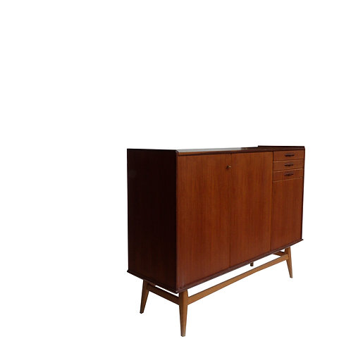 Stunning Retro sideboard in teak and birch legs from Sweden 1960s