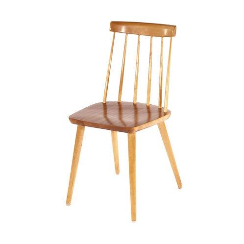 Swedish mid century chair 1950s in teak and birch