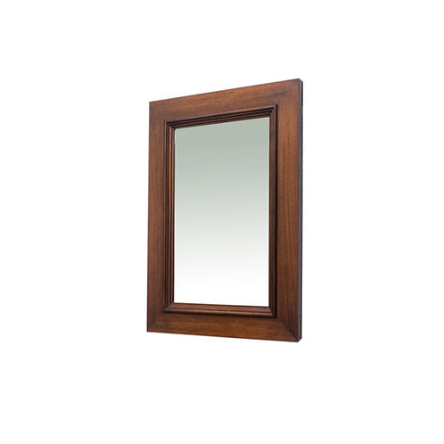 Antique Oak small mirror with original glass late 1800s from Sweden