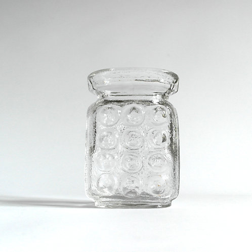 Retro glass vase with lovely embossed pattern from Sweden mid-century