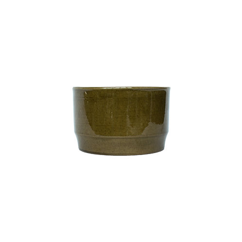 """Bobergs Fajansfabrik"" green glazed ceramic bowl Model no. 710"