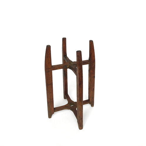 Antique part of Spinning Wheel to use as pedestal in Pine from Sweden late 1800s