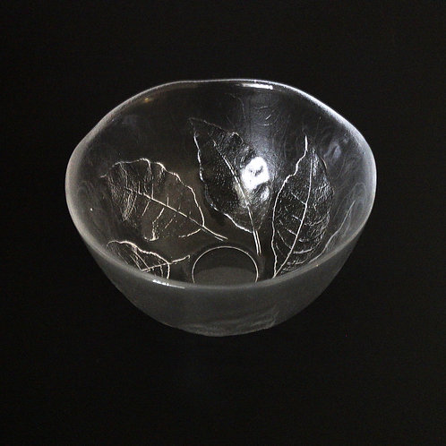 "Kosta Boda medium size glass bowl design ""Party"" designed by Göran Wärff"