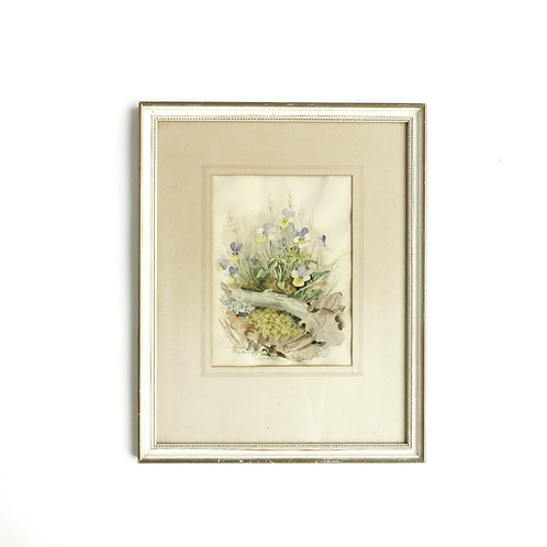 Various Vintage Aquarelles/drawings/Lithographs from Sweden 1900s