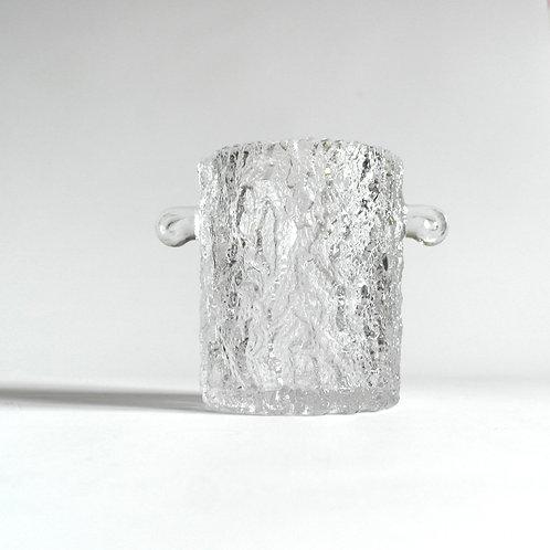 Stunning vintage ice bucket in glass from Sweden mid-century