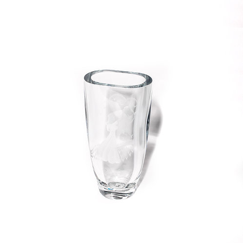 Glass vase early 1900s