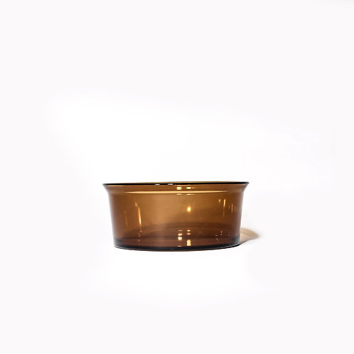 Brown glass bowl from Sweden mid century