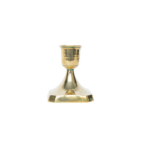 Small vintage brass candle holder from Sweden mid century