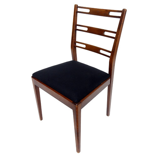Retro birch frame dining chair from Sweden 1960s