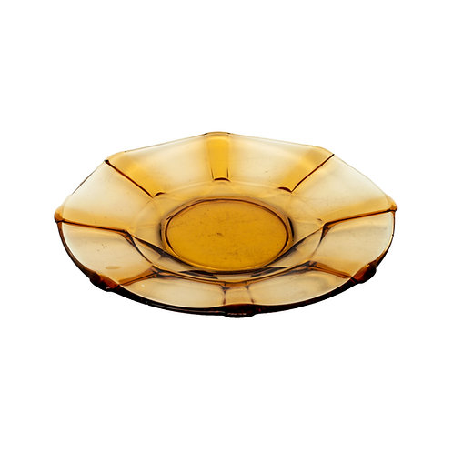 Vintage Amber Glass Plate from Sweden 1960s