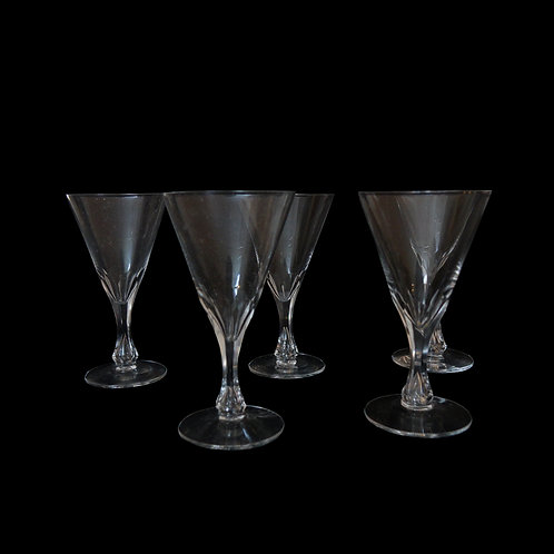 Vintage crystal snaps glasses se of five from Sweden early 1900s