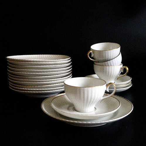 Early 1900s stunning Karlskrona coffee set design Percy from Sweden