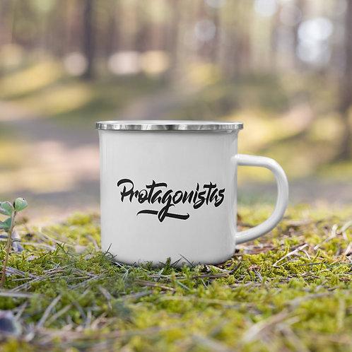 Emalinis Protagonisto puodelis