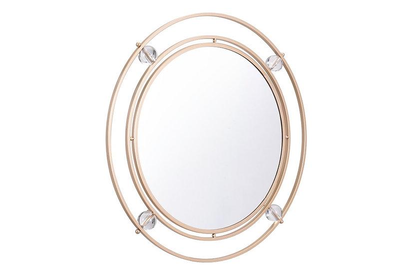 Floating Round Lucite Mirror