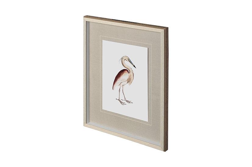 Marone Backed Heron - Wall Art