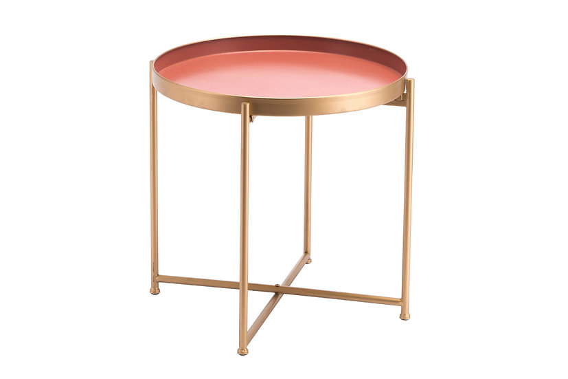 Red Pink - Short Accent Table