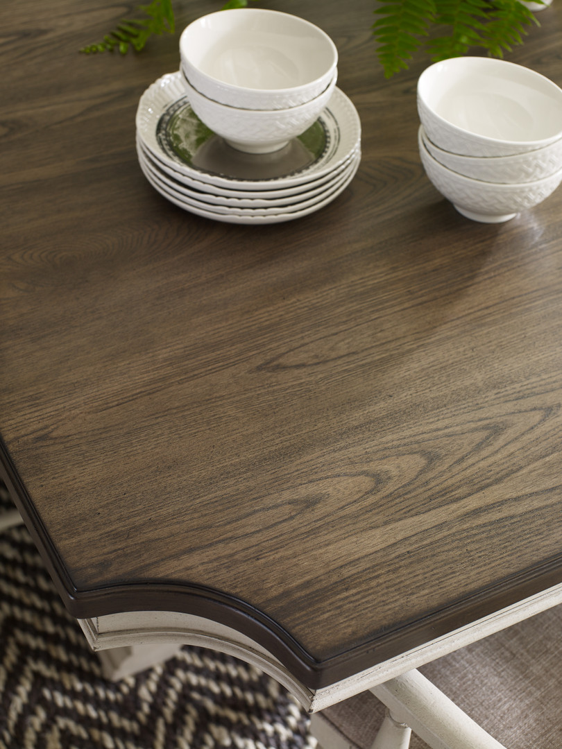 Trestle Dining Table Top Detail