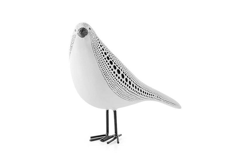 Debossed - Standing Bird (White)
