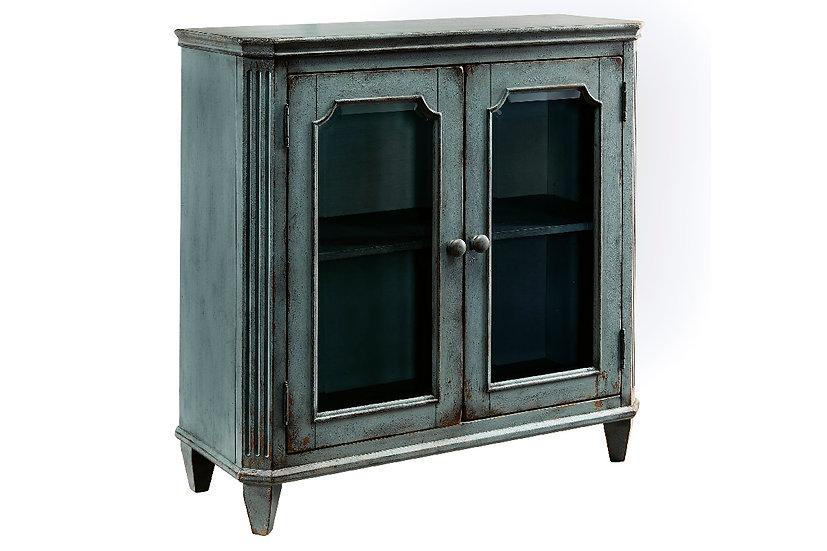 Mirimyn - Antique Teal 2-Door Accent Cabinet