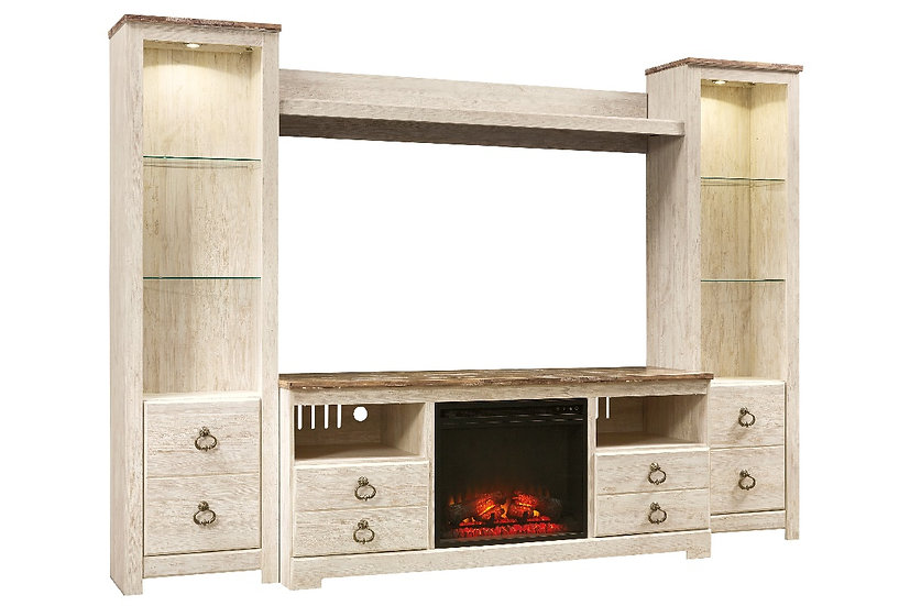 Willowton - Large TV Stand with Bridge