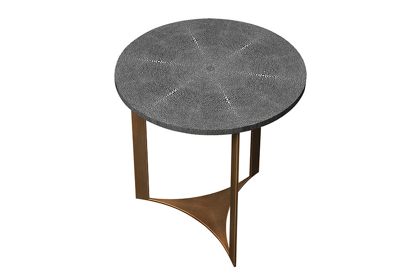 Ambient Shagreen - Round Side Table