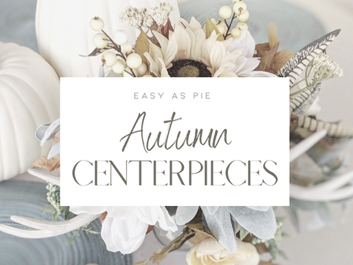 'Easy As Pie' Fall Centerpieces