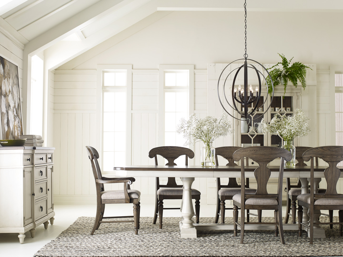 Brookhaven Trestle Table with Splat Back Chairs