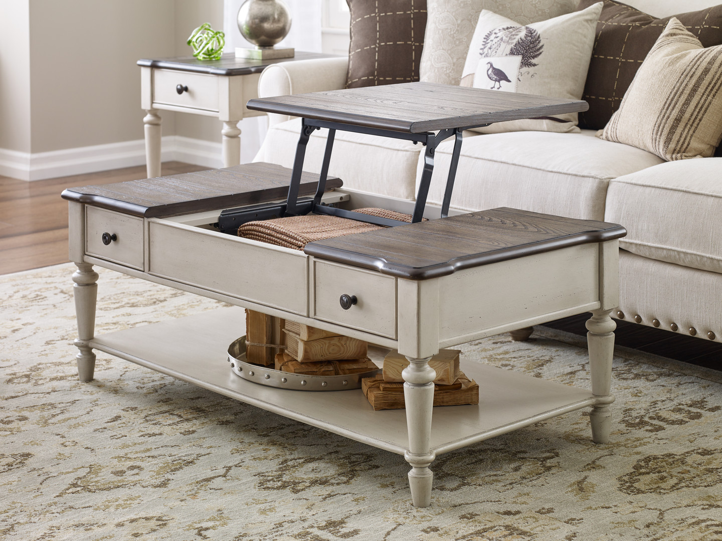 Lift-top Coffee Table, Open