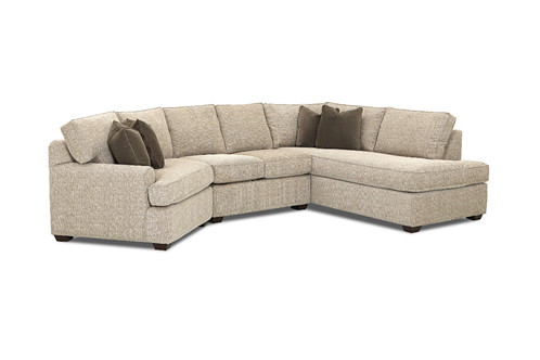 Outstanding Hybrid Curved Sectional Sofa With Chaise Creativecarmelina Interior Chair Design Creativecarmelinacom